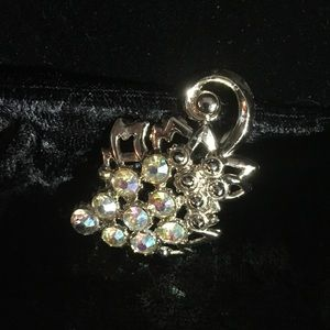 Jewelry - Grape Cluster Rhinestone Brooch (i011)
